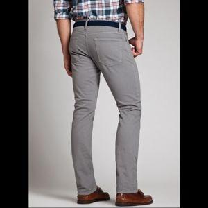 Bonobos men's Travel Jean gray pants 33x30